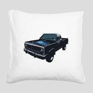 Dodge Power Ram Pickup Truck Square Canvas Pillow