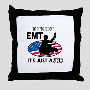 Patriotic EMT designs Throw Pillow