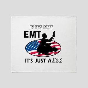 Patriotic EMT designs Throw Blanket