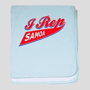 I rep Samoa baby blanket
