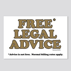 Free Legal Advice (2) Postcards (Package of 8)