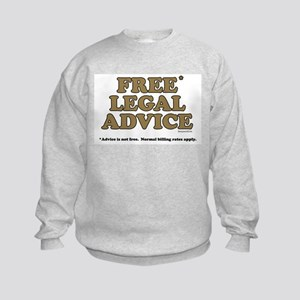 Free Legal Advice (2) Kids Sweatshirt