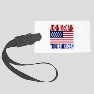JOHN McCAIN TRUE AMERICAN Large Luggage Tag
