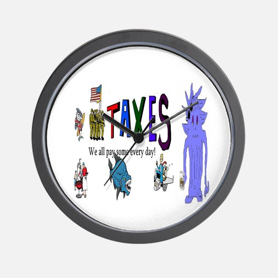Tax and Taxes Wall Clock