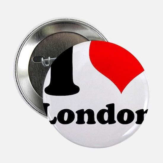 """I Heart (Love) London 2.25"""" Button"""