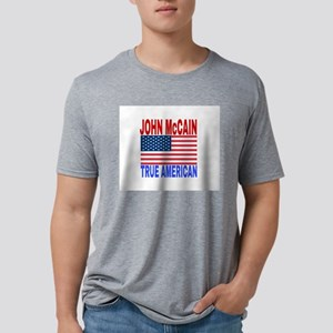 JOHN McCAIN TRUE AMERICAN Mens Tri-blend T-Shirt