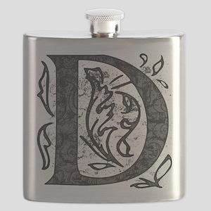 Fancy Monogram D Flask