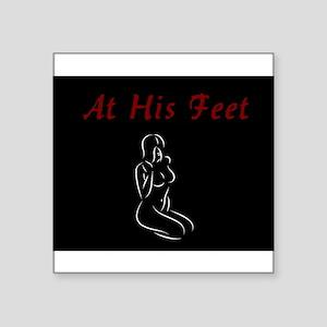 At His Feet - BDSM Design Sticker