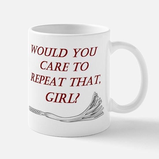 Witty Dominant Design in White - BDSM Designs Mug