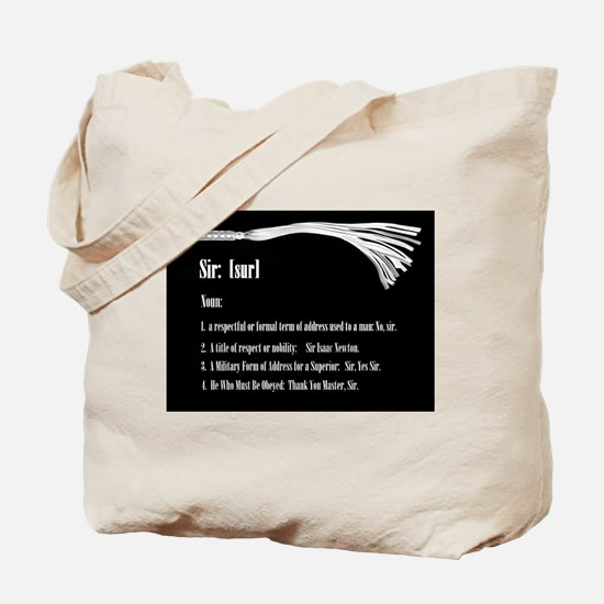 Sir by Definition - Male Dominant Design Tote Bag