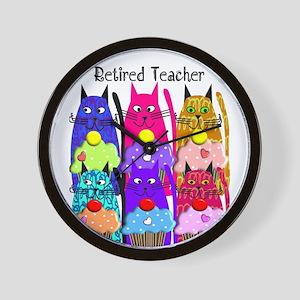 retired teacher 2 Wall Clock