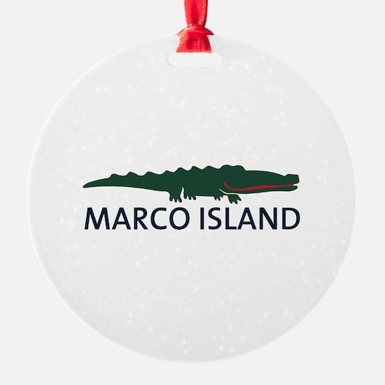 Marco Island - Alligator Design. Ornament
