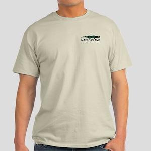 Marco Island - Alligator Design. Light T-Shirt