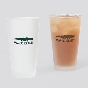 Marco Island - Alligator Design. Drinking Glass