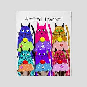 retired teacher 2 Throw Blanket