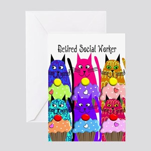 retired social worker 1 Greeting Card
