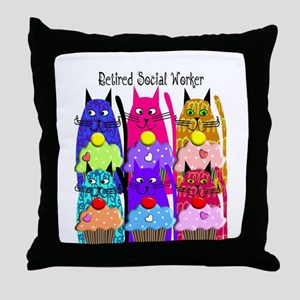 retired social worker 1 Throw Pillow