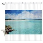 Clear Open Water Shower Curtain