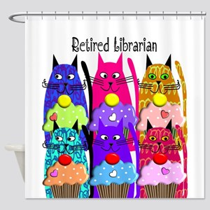 Retired Librarian Shower Curtain