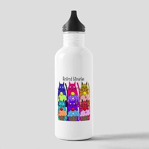 Retired Librarian Water Bottle