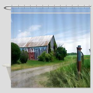 Rural Deserted Barn Shower Curtain