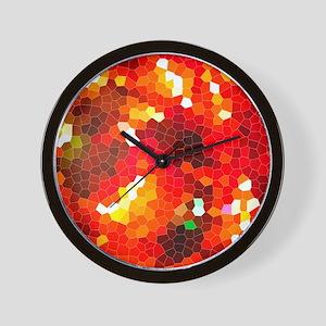 Fiery red Wall Clock