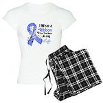 Ribbon Hero Stomach Cancer Women's Light Pajamas