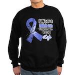 Ribbon Hero Stomach Cancer Sweatshirt (dark)