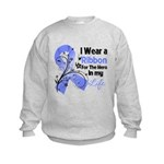 Ribbon Hero Stomach Cancer Kids Sweatshirt