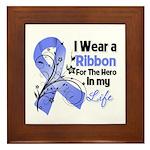 Ribbon Hero Stomach Cancer Framed Tile