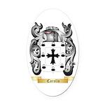 Carollo Oval Car Magnet