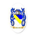 Caroli Oval Car Magnet