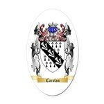 Carolan Oval Car Magnet