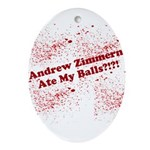 Ate My Balls?!?! Ornament (Oval)