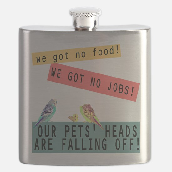 Our Pets Heads are Falling Off Flask
