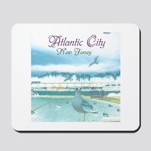 BOARDWALK VIEW. ATLANTIC CITY, NJ. Mousepad