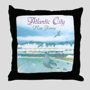 BOARDWALK VIEW. ATLANTIC CITY, NJ. Throw Pillow