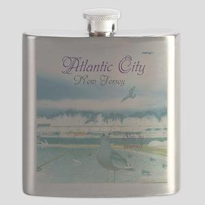 BOARDWALK VIEW. ATLANTIC CITY, NJ. Flask