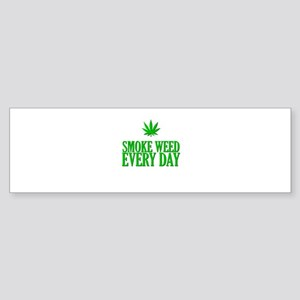 Smoke Weed Every Day Bumper Sticker