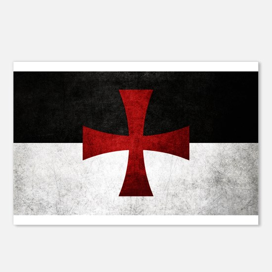Templar Flag Postcards (Package of 8)