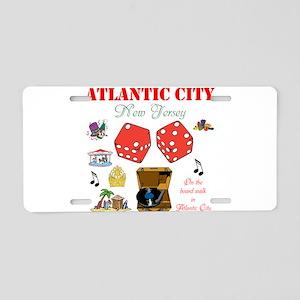 ON THE ATLANTIC CITY BOARDWALK. Aluminum License P