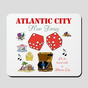 ON THE ATLANTIC CITY BOARDWALK. Mousepad