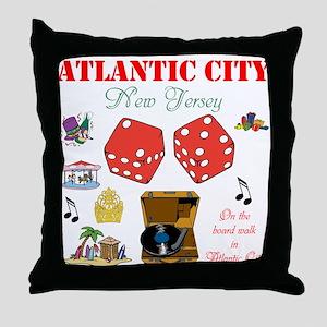 ON THE ATLANTIC CITY BOARDWALK. Throw Pillow
