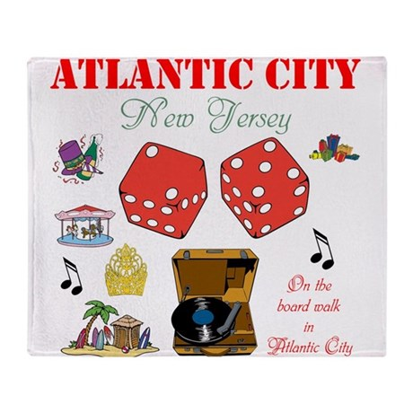 ON THE ATLANTIC CITY BOARDWALK. Throw Blanket