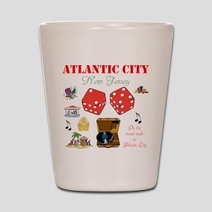ON THE ATLANTIC CITY BOARDWALK. Shot Glass