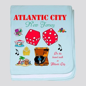 ON THE ATLANTIC CITY BOARDWALK. baby blanket