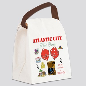 ON THE ATLANTIC CITY BOARDWALK. Canvas Lunch Bag