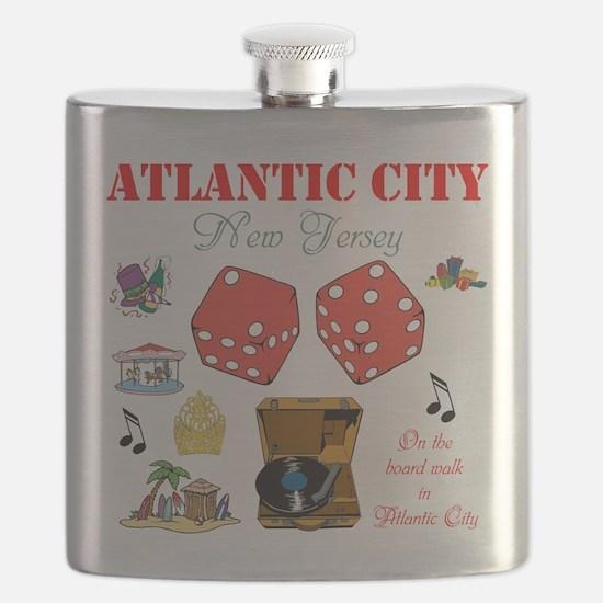 ON THE ATLANTIC CITY BOARDWALK. Flask