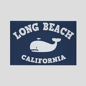 Long Beach Whaling Rectangle Magnet