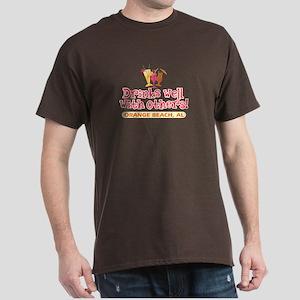 Orange Beach-Drinks Well Dark T-Shirt